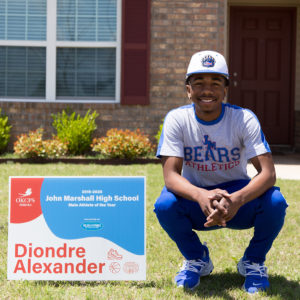 Diondre Alexander John Marshall HIgh School Male Student-Athlete of the Year