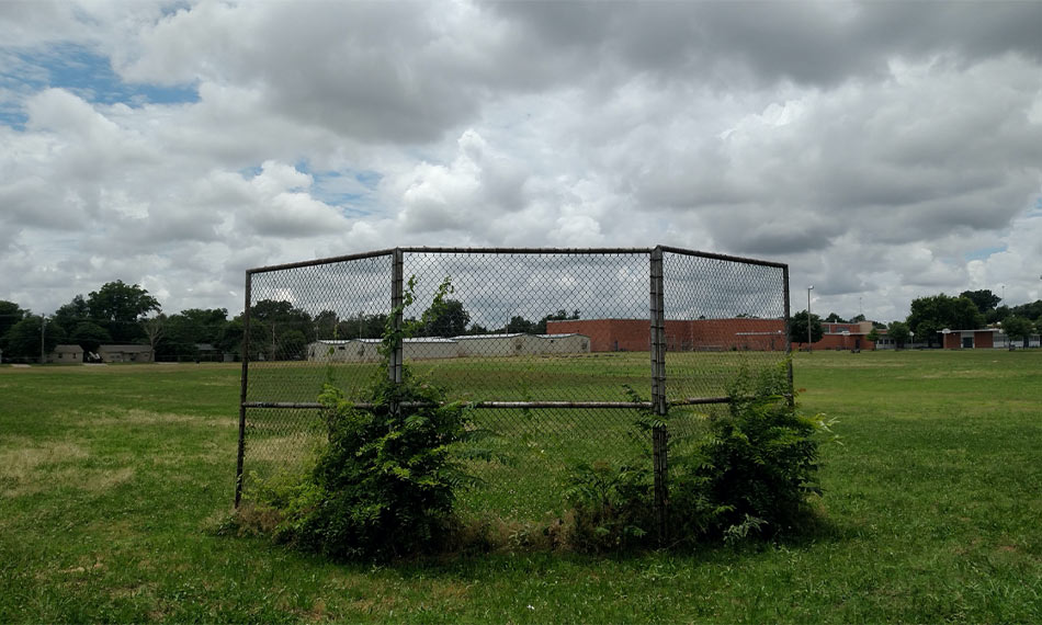 Roosevelt Middle School Athletic Field Before Renovation