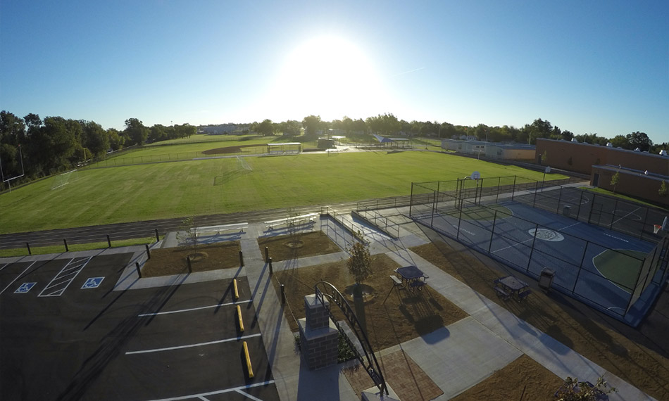 Roosevelt Middle School Athletic Facilities after being rebuilt by Fields & Futures