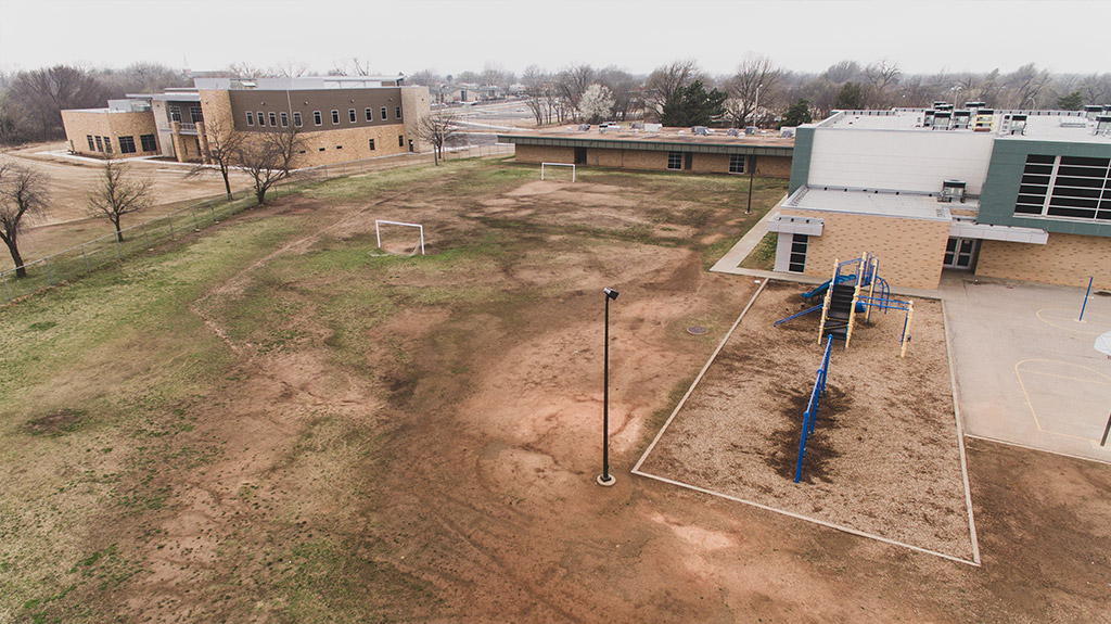 OKCPS Southeast Middle School before construction by Fields & Futures