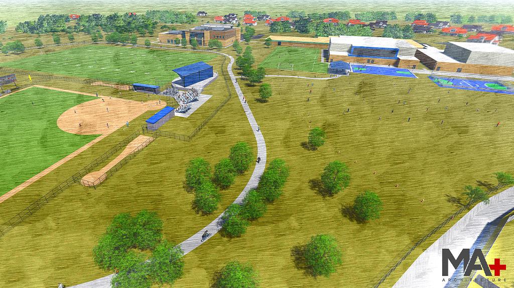 Final plan rendering of Southern Oaks Park improvement project.