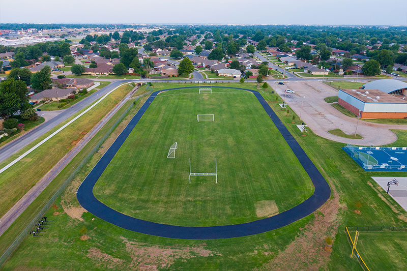 The new track at Jefferson Middle School in Oklahoma City Public Schools