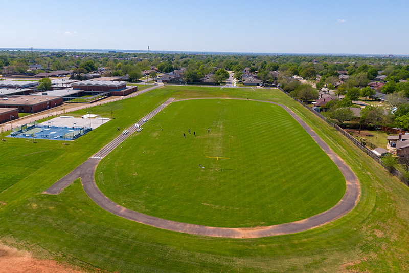 The new track at John Marshall Middle School in Oklahoma City Public Schools