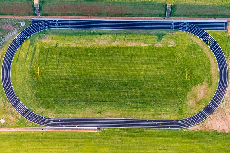 The new track at Northwest Classen High School in Oklahoma City Public Schools