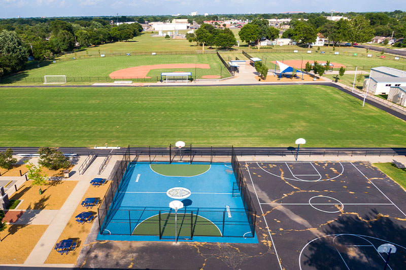 The new track at Roosevelt Middle School in Oklahoma City Public Schools