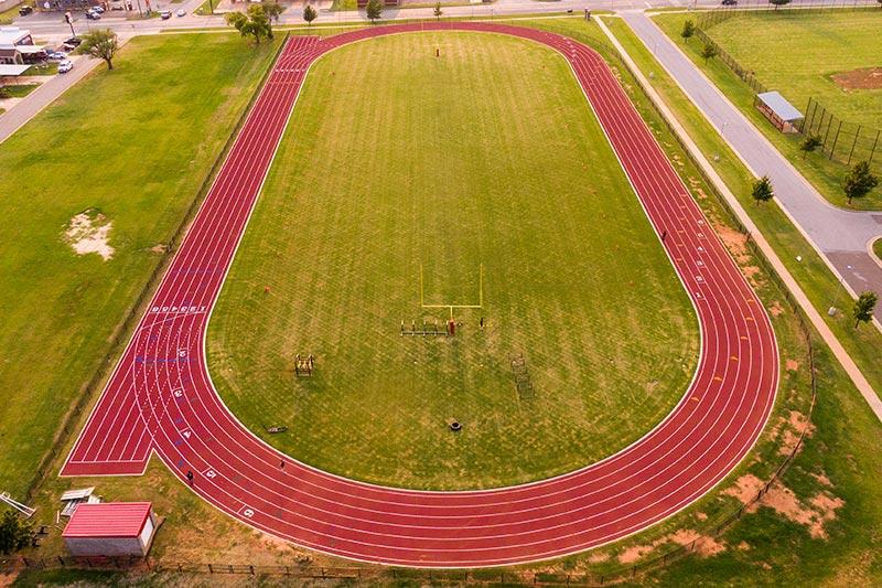 The new track at U.S. Grant High School in Oklahoma City Public Schools