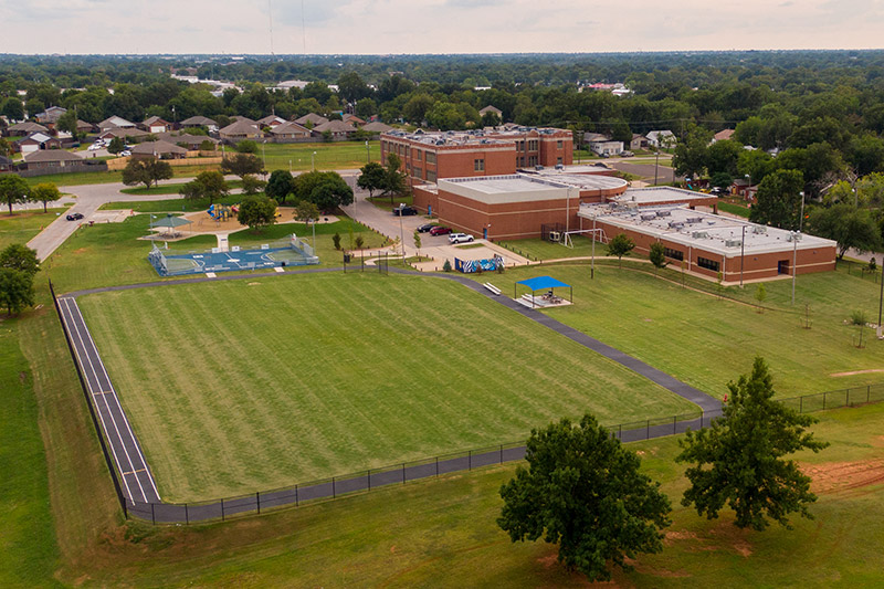The new track at Wheeler Middle School in Oklahoma City Public Schools