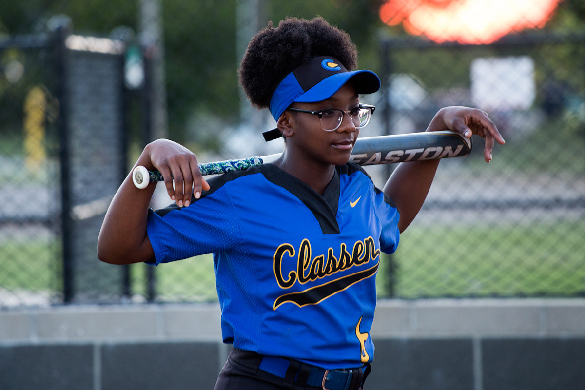 Why-We-Care-Students-Symone-Talley-With-a-Softball-Bat