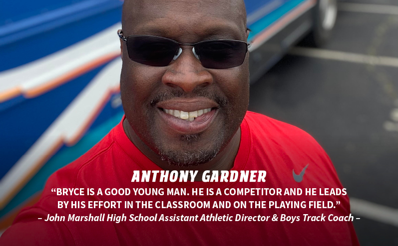 Fields & Futures Track & Field State Champions blog post story image of John Marshall High School Track Coach Anthony Gardner