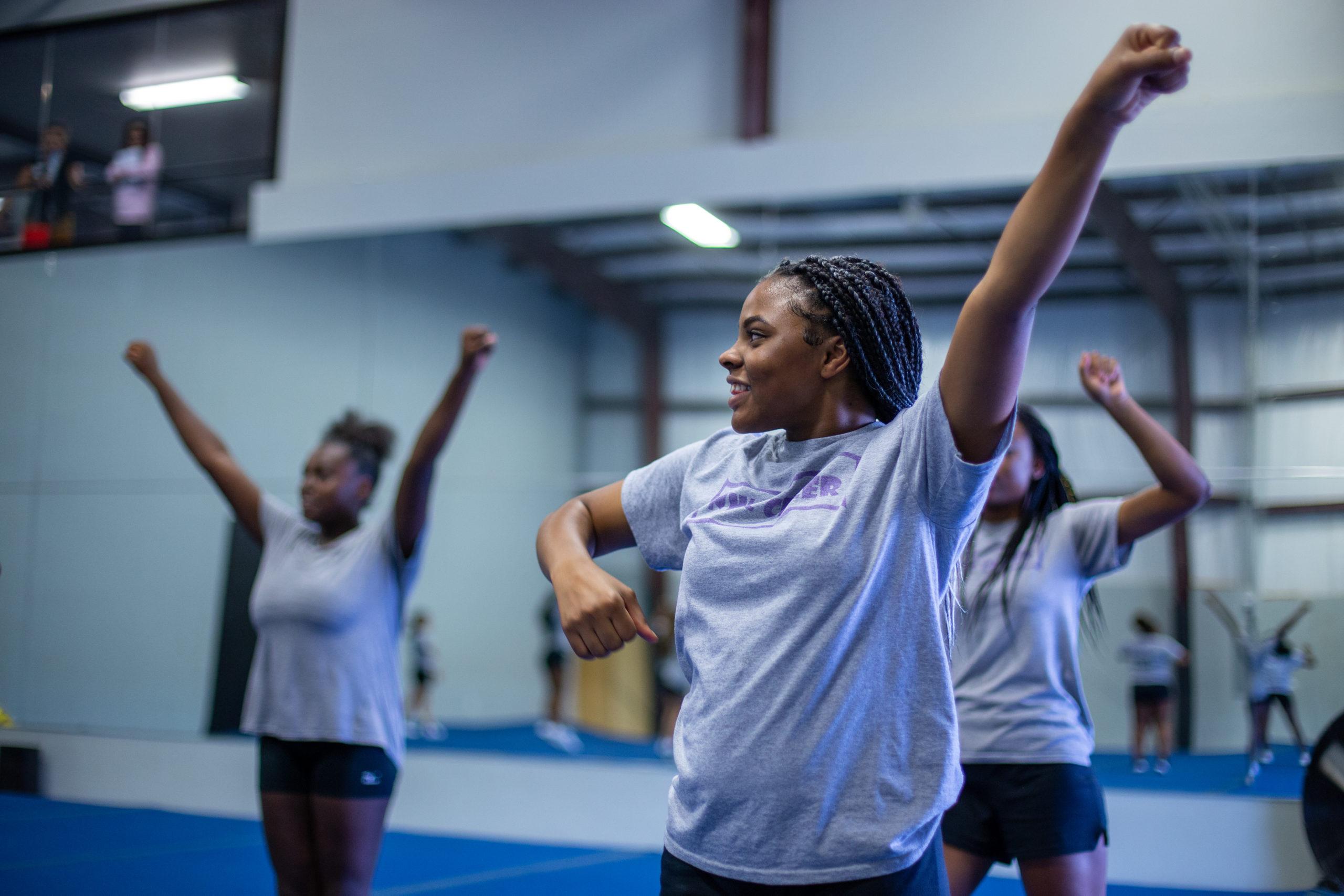 OKCPS cheerleaders at 2019 OKCPS Cheer Clinic