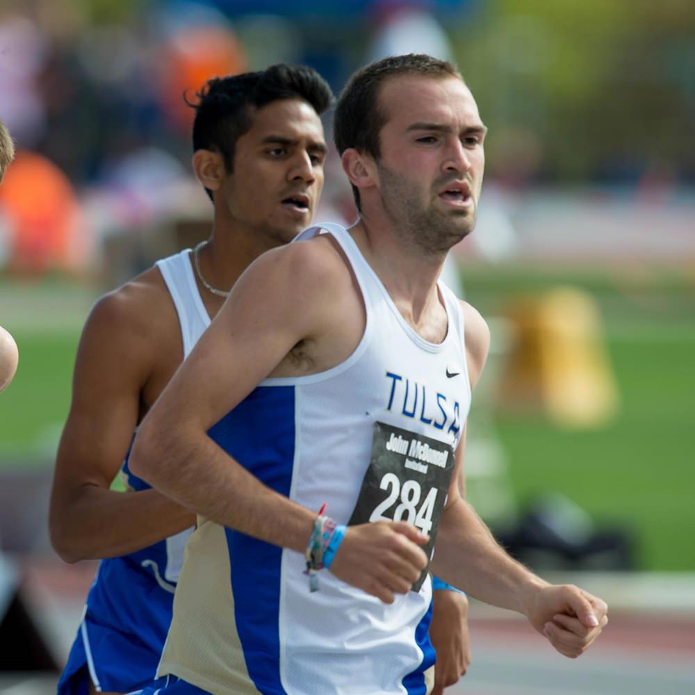 Simon Greiner running for the University of Tulsa