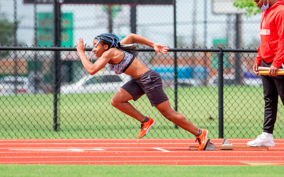 Track Athlete at Starting Line